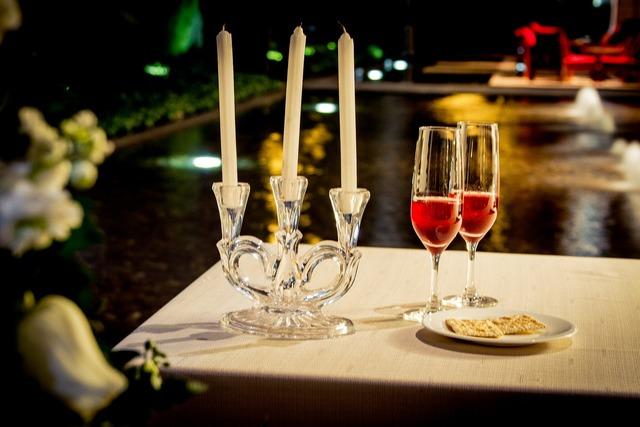 Dinner wine love, emotions.