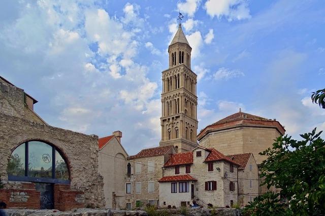 Dioakletianpalast split croatia, architecture buildings.