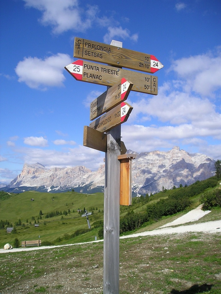 Directory orientation hiking trails.