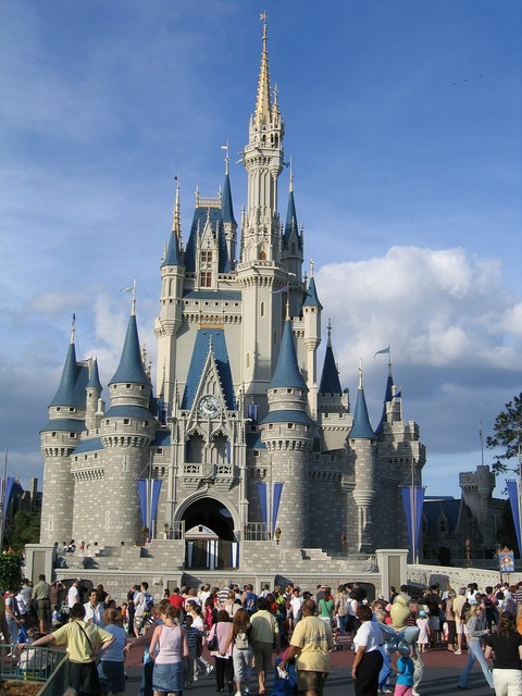 Disney world magic kingdom building, architecture buildings.