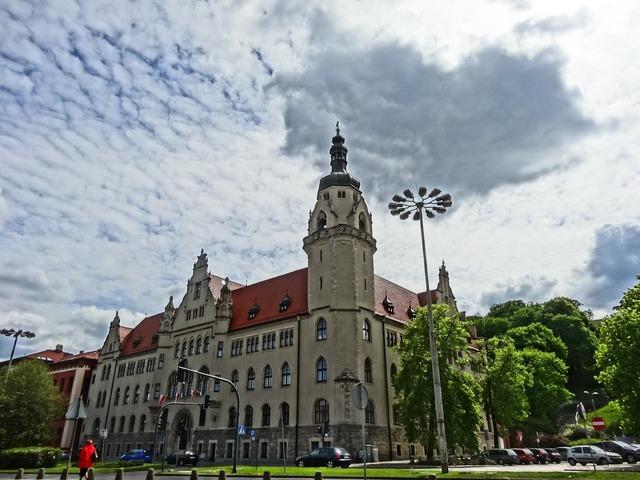 District court bydgoszcz poland, architecture buildings.
