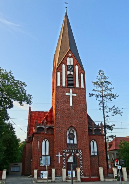 Divine mercy church bydgoszcz tower, architecture buildings.