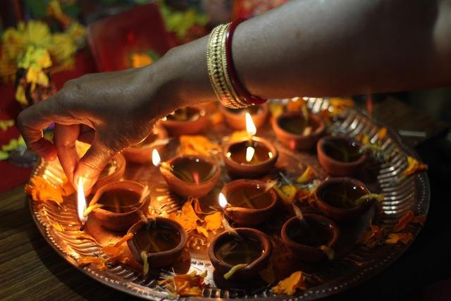 Diwali diya occasion, religion.