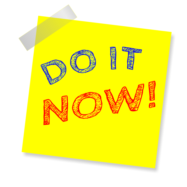 Do it now note reminder.