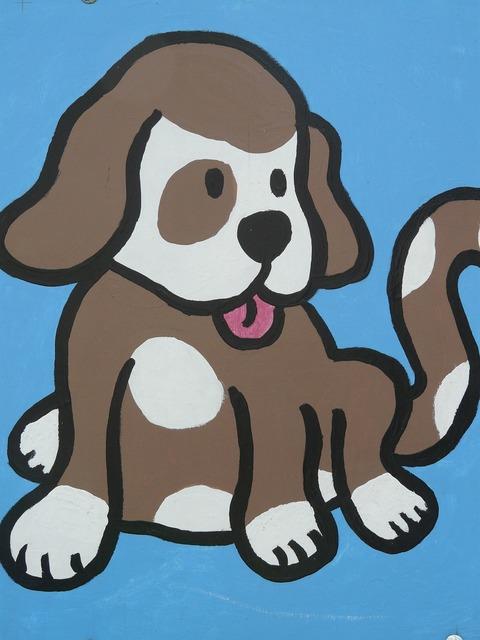 Dog comic figure, animals.