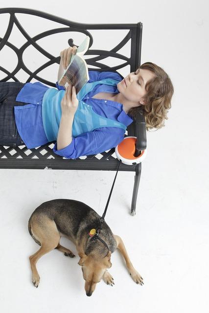 Dog leash dog woman, animals.