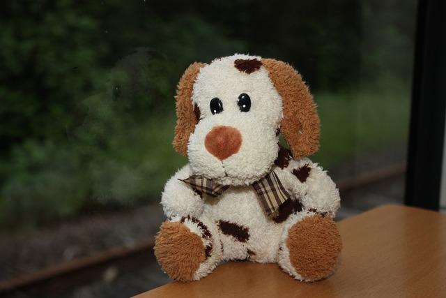 Dog stuffed animal children toys, animals.