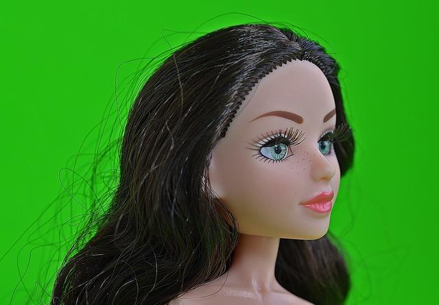 Doll face portrait, people.