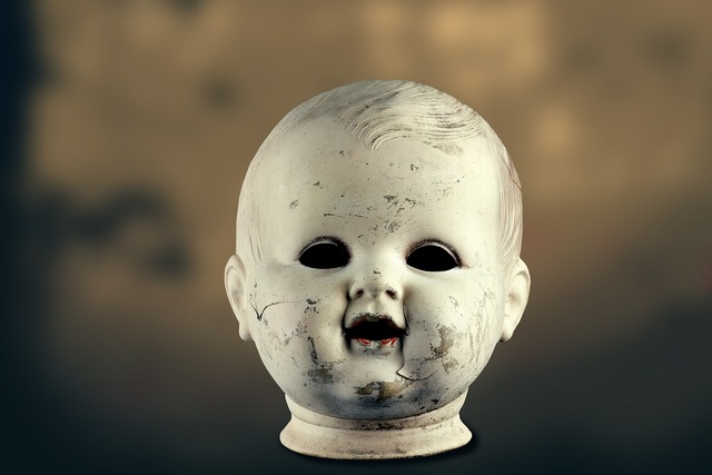 Doll head old.
