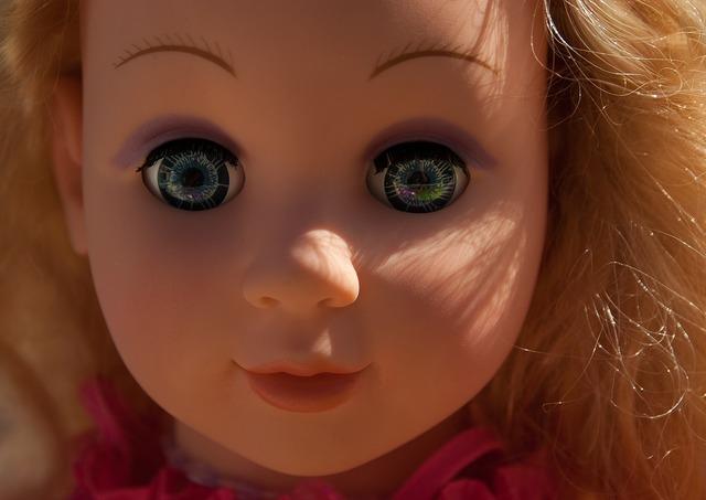Doll toy flea market, people.