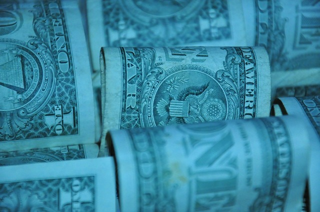 Dollar american currency, business finance.