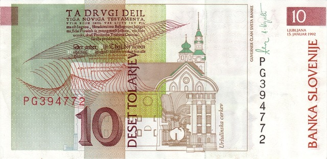 Dollar bill banknote slovenia, business finance.