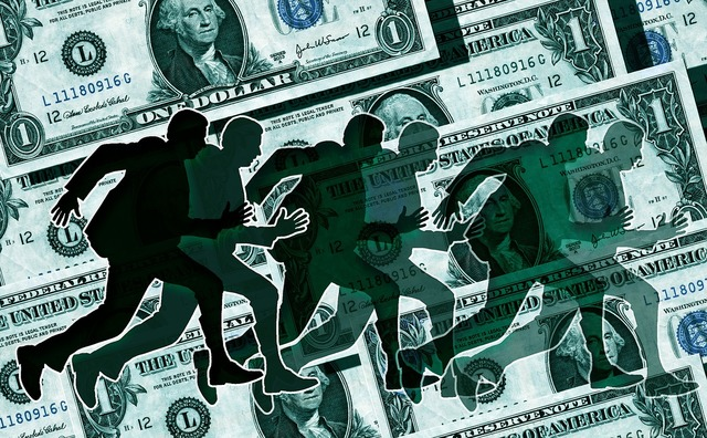 Dollar finance race, business finance.