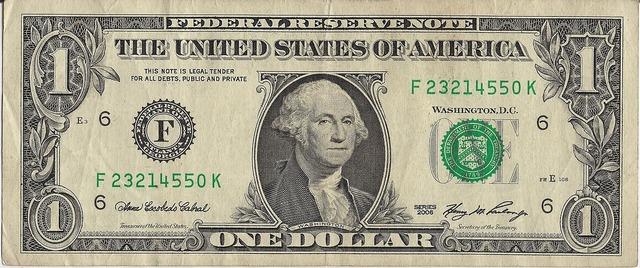 Dollar money bill, business finance.