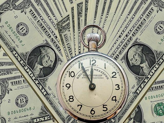 Dollar pocket watch finance, business finance.