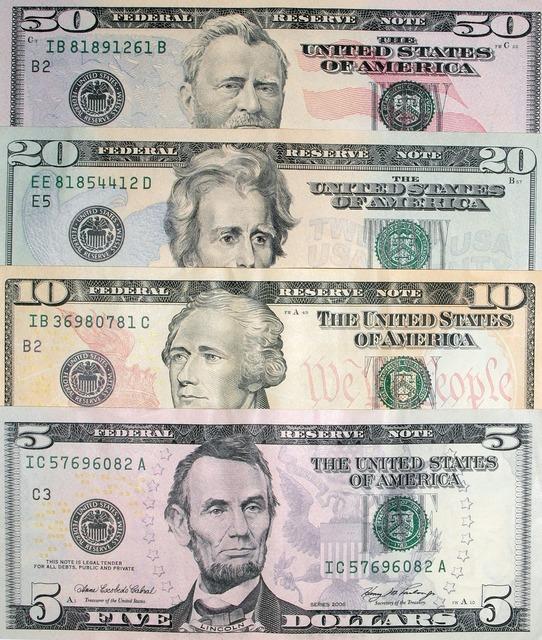 Dollars dollar bills banknotes, business finance.