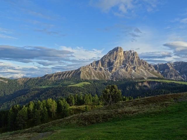Dolomites mountains hiking.