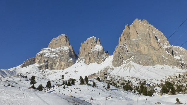 Dolomites sassolungo italy.