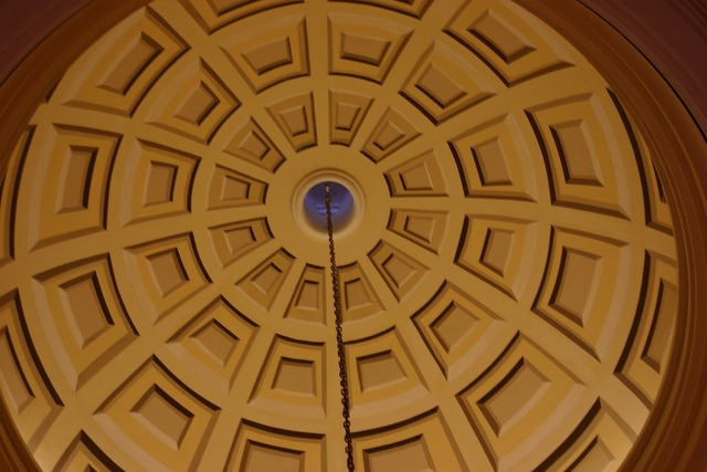 Dome ceiling design, backgrounds textures.
