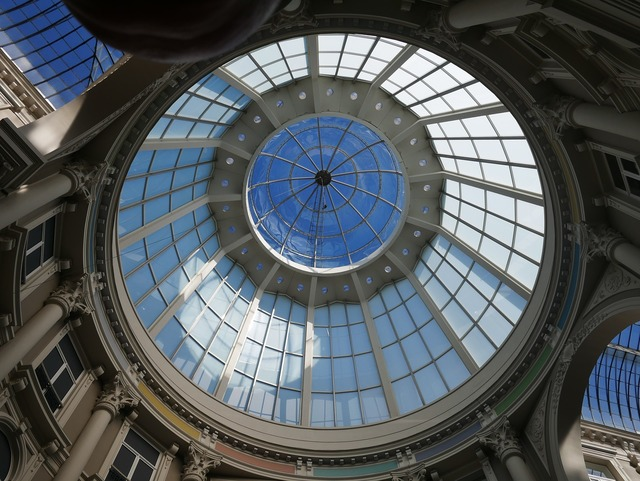 Dome glass roof monument, architecture buildings.