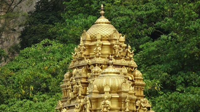 Dome temple batu caves, religion.