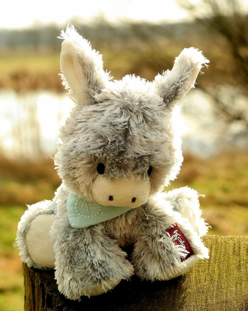 Donkey stuffed animal funny.