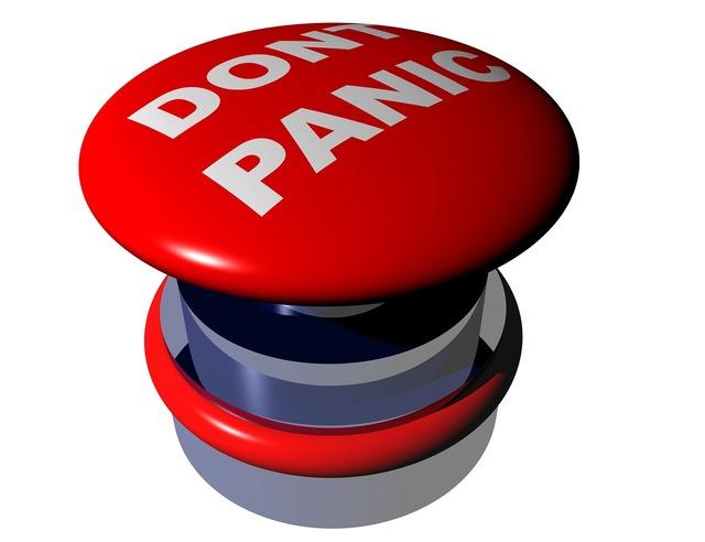 Dont panic panic button, emotions.