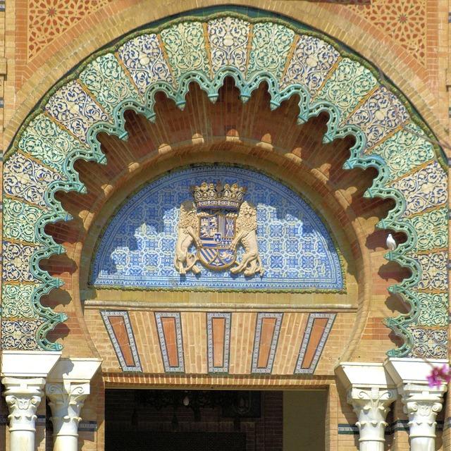 Door arc ceramic, architecture buildings.