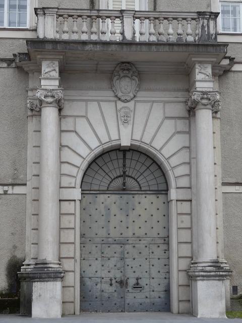 Door arch balcony, architecture buildings.