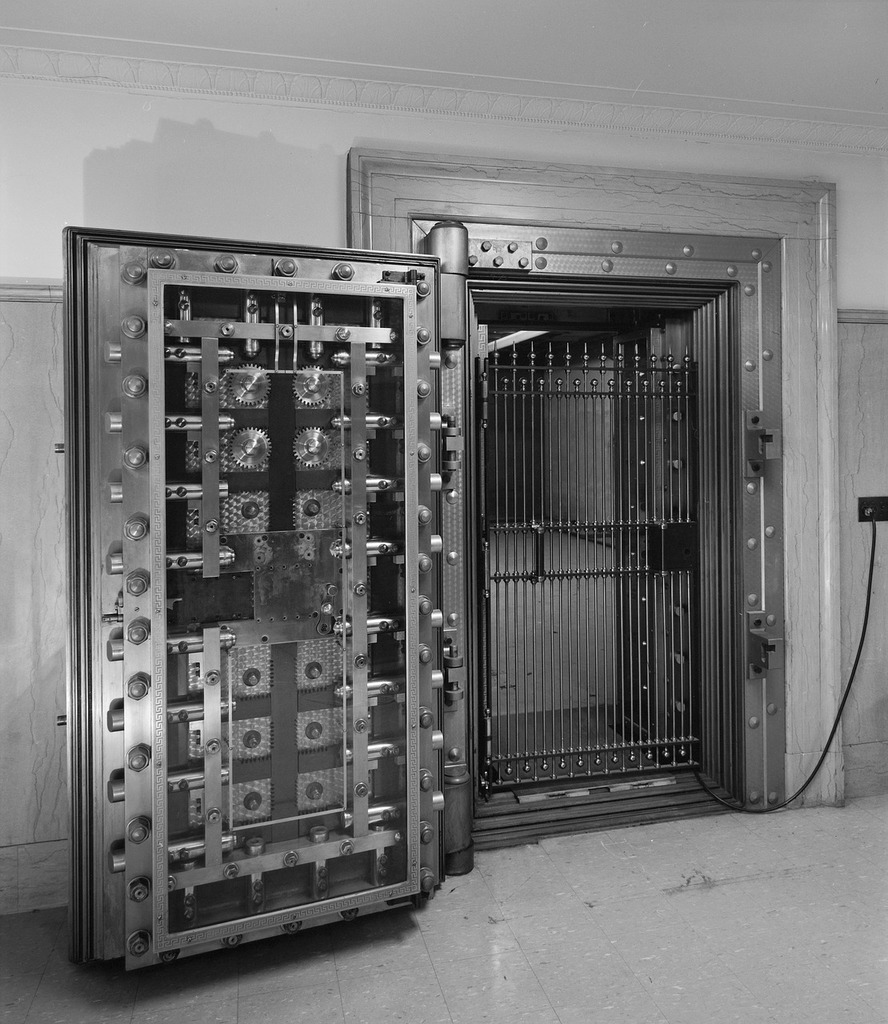 Door bank vault, architecture buildings.