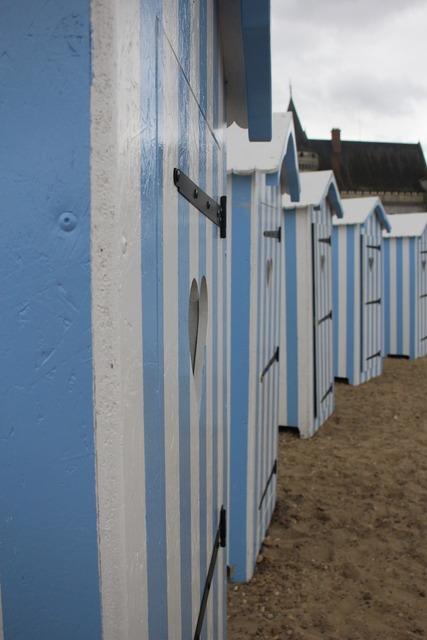 Door beach blue, travel vacation.