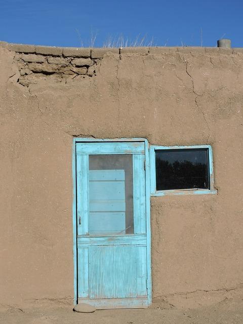 Door blue southwest, architecture buildings.