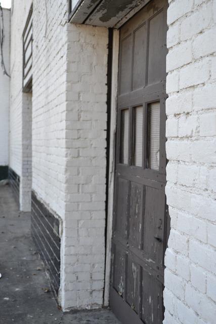 Door building brick, architecture buildings.