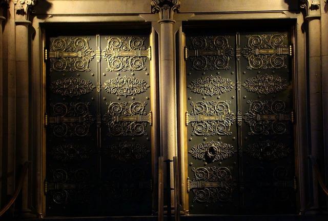 Door gate illumination, architecture buildings.