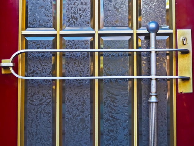 Door glass input, architecture buildings.