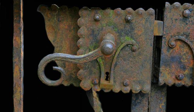 Door handle door door lock.