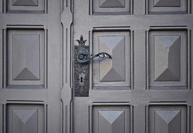 Door handle keyhole, architecture buildings.