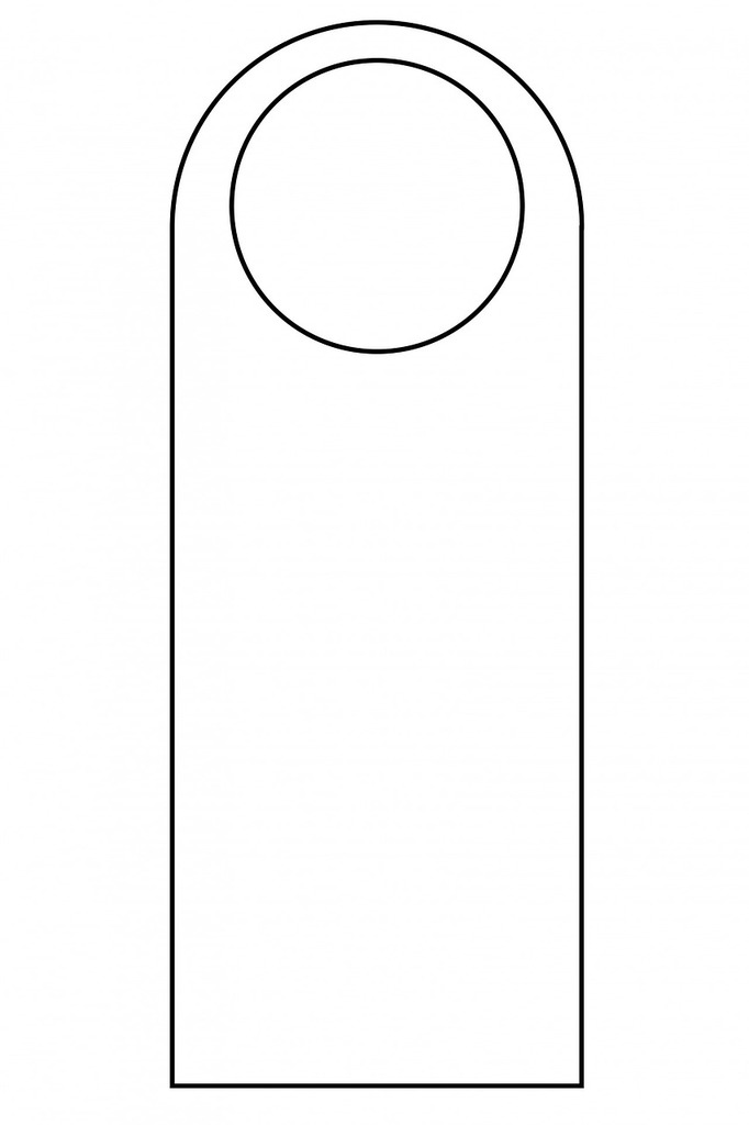 Door hanger template door.