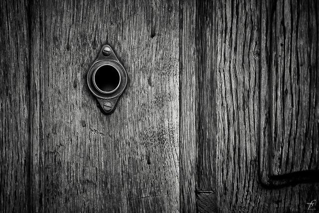 Door keyhole design.