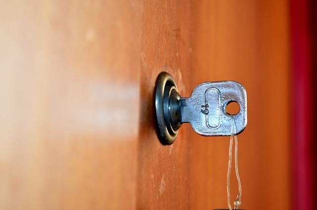 Door keys unlock.