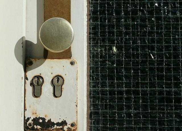 Door lock locking system close.