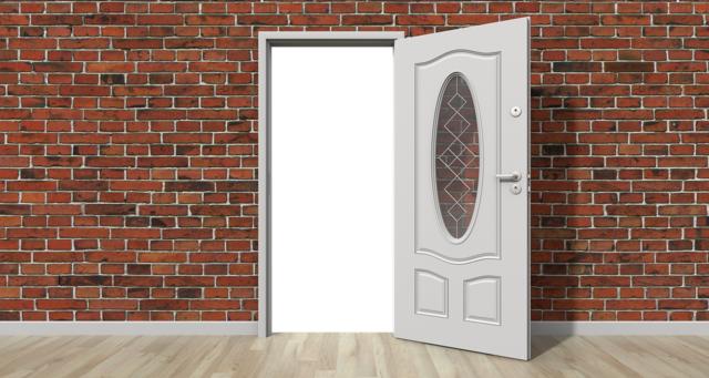 Door open wall, architecture buildings.