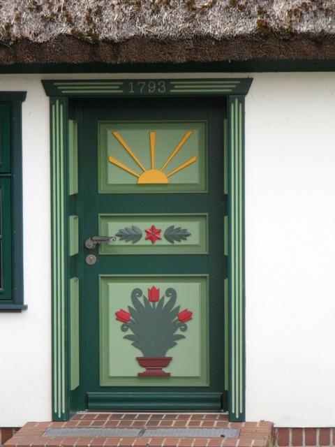 Door painted baltic sea.