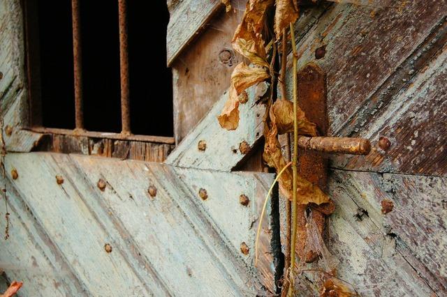 Door stainless old.