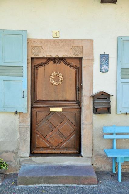 Door wooden door carved door, architecture buildings.