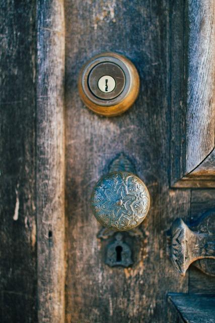 Doorknob door lock.