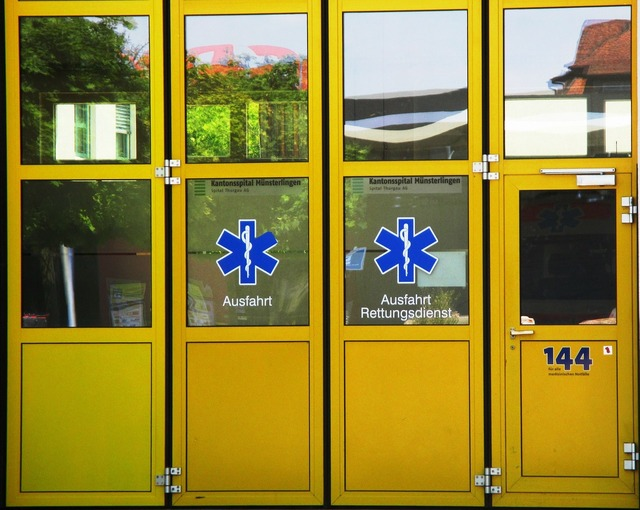 Doors yellow glass.