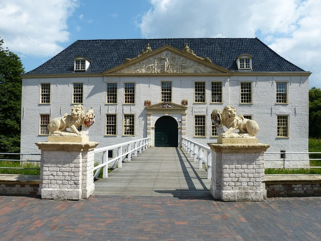 Dornum castle moated castle.