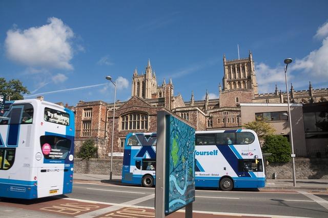 Double decker bus bus bristol, architecture buildings.