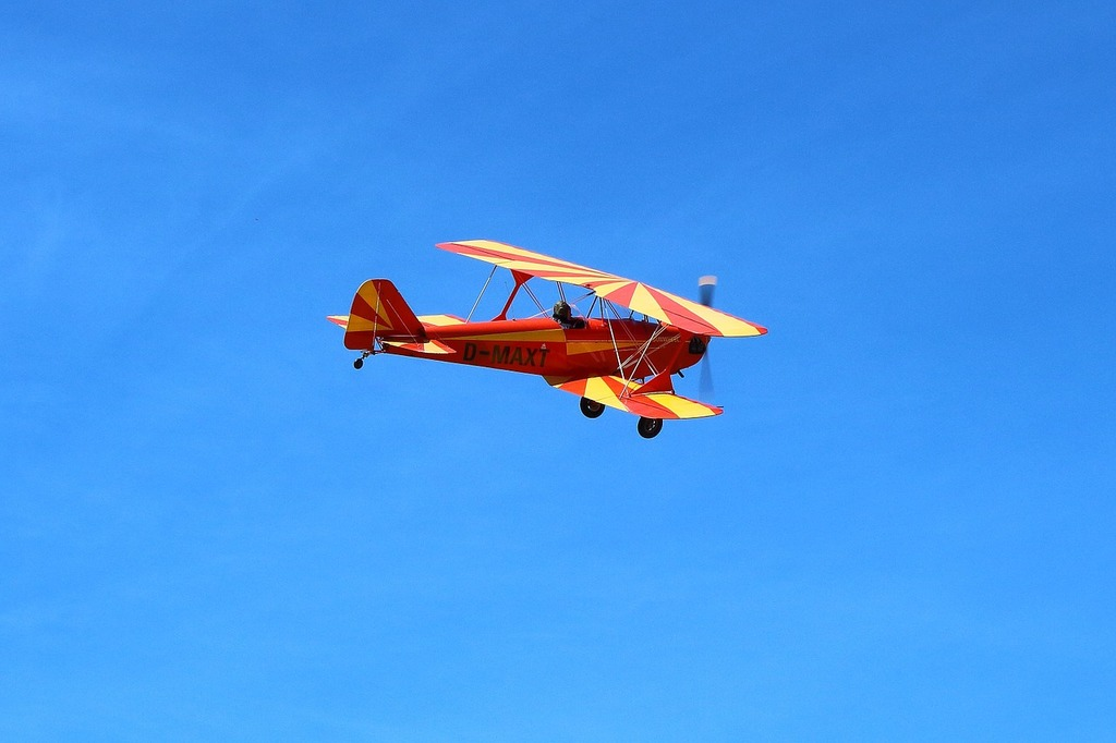 Double decker oldtimer aircraft.